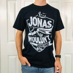 The Jonas Brothers Black White Graphic T-Shirt M
